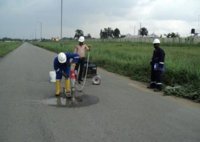 Road Strength Testing & Alignment Survey for EPCL Eleme Port Harcourt 2011